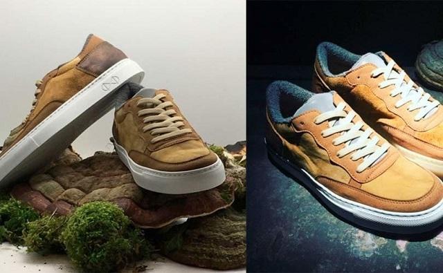 Эко-обувь из грибов, кофе, сена и дерева