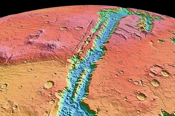 Огромные быстротекущие реки когда-то простирались на ландшафте Марса