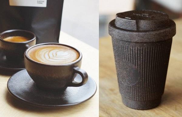 Биоразлагаемые чашки из кофейной гущи