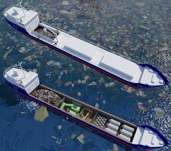 Украинские ученые изобрели плавающий мусороперерабатывающий завод