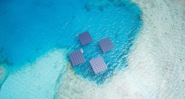 Электричество на Мальдивах вырабатывают плавучие солнечные батареи