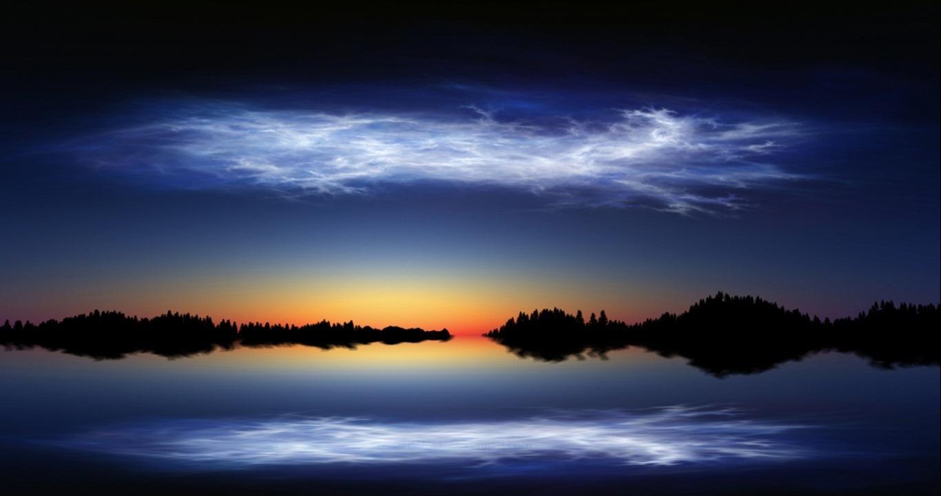 Невероятные погодные явления: серебристые облака