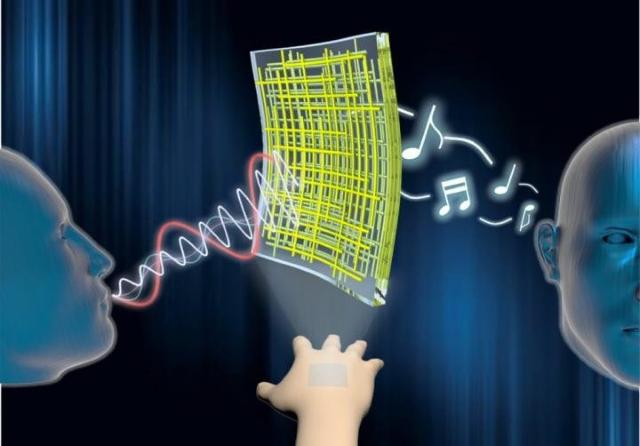 Прозрачные репродукторы и микрофоны, которые позволяют вашей коже воспроизводить звуки