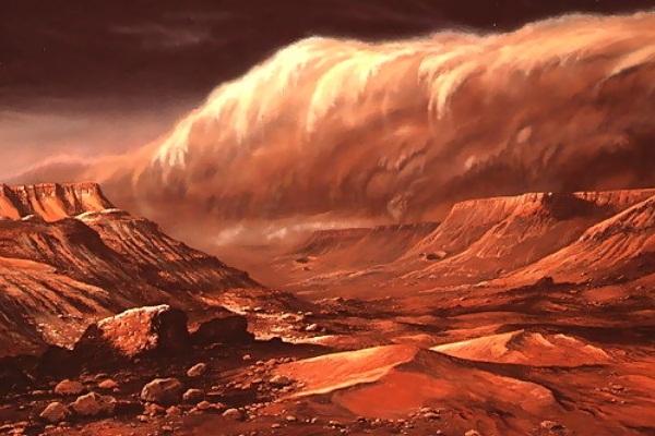 Впервые в истории был записан шум ветра на Красной планете