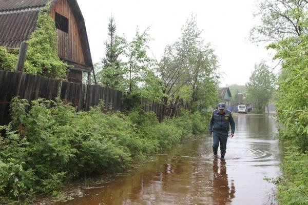 Дожди привели к подтоплению большого числа домов в ЕАО