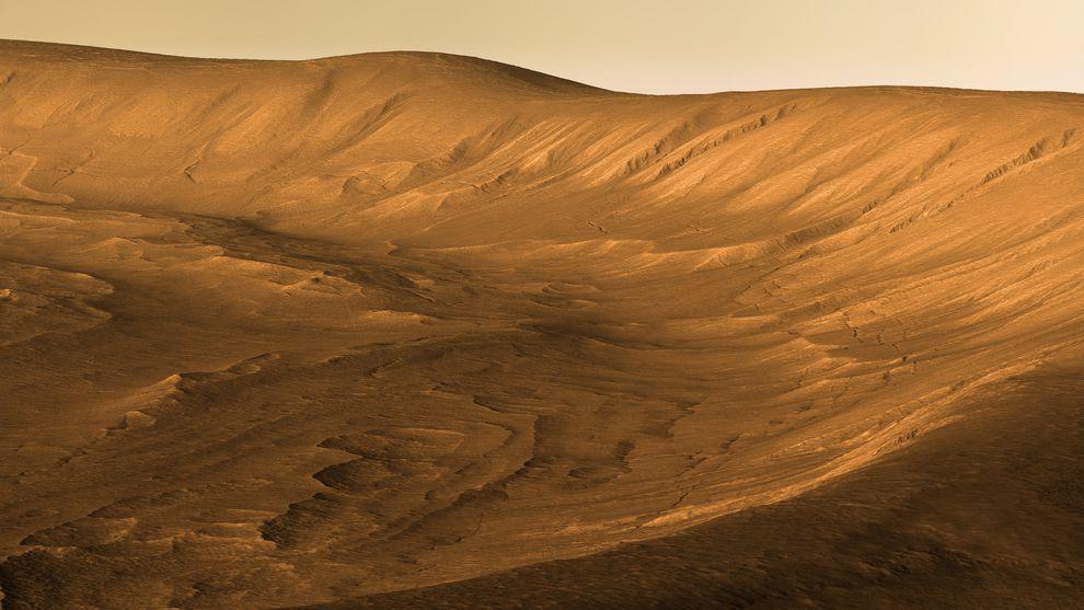 Чудеса космоса: кратер Утопия Планития и самая высокая гора Солнечной системы