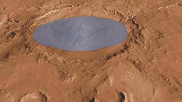 Марсоход NASA Curiosity обнаружил на Марсе высохшее соленое озеро